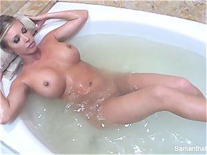 Samantha's sensuous bath lady on doll fantasy