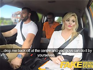 fake Driving school gorgeous huge-titted posh blonde examiner