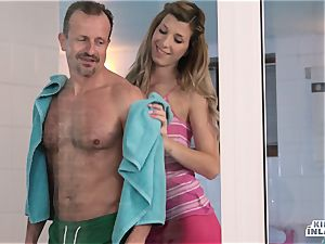super-naughty INLAWS - Czech stepdaughters penetrated in three way
