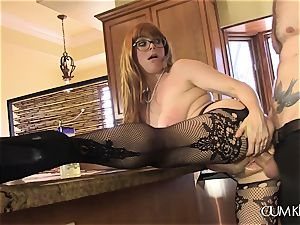 Penny Pax drills in the kitchen