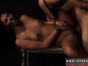 harsh anal group nail restrain bondage puny, inked, and highly pretty, Gina Valentina is the