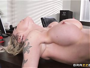 dirty assistant Devon is poked on a desktop