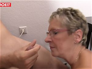 LETSDOEIT - grandmother Gets snatch stuffed With young man rod