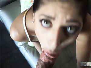 Lexy Rose point of view inhaling action with stepdad