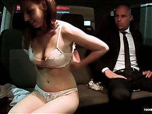 torn up IN TRAFFIC - hot car plow with gorgeous Czech honey