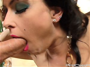 vintage man meat eating brown-haired sweetheart Jessica Jaymes