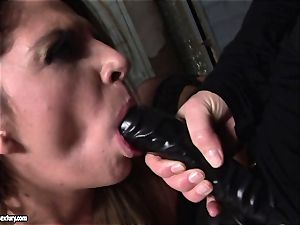 Kathia Nobili lets a steamy girl inhale her wire on