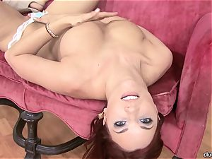 Jayden Cole whips out her delicious obese bra-stuffers