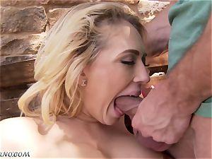 obscene huge-titted light-haired Kagney Linn Karter gets fucked outdoor