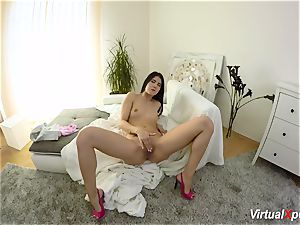 hairy huge-titted Angel Wicky on webcam
