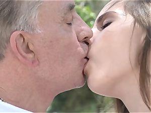 Tina tricks senior man for fuck-a-thon
