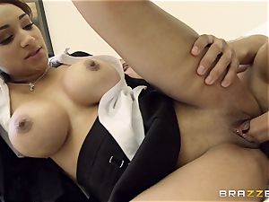 nasty chick Lola James drills for her grades