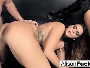 3-way xxx energetic intercourse with Alison