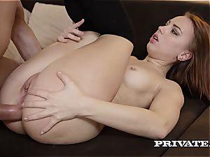 naughty schoolgirl Kira Thorn Takes an ass fucking...
