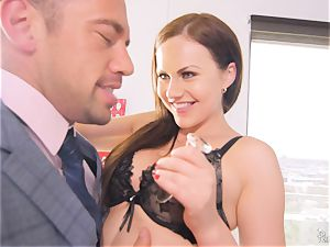 Tina Kay getting her cock-squeezing white pearly ass penetrated