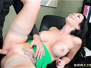 ginormous titted chief Jayden Jaymes ravages her new worker